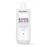 Goldwell DS Blondes&Highlights Anti-Yellow Shampoo 1L Šampoon blondidele juustele